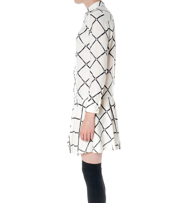 G.V.G.V. Bondage Print Shirt Dress