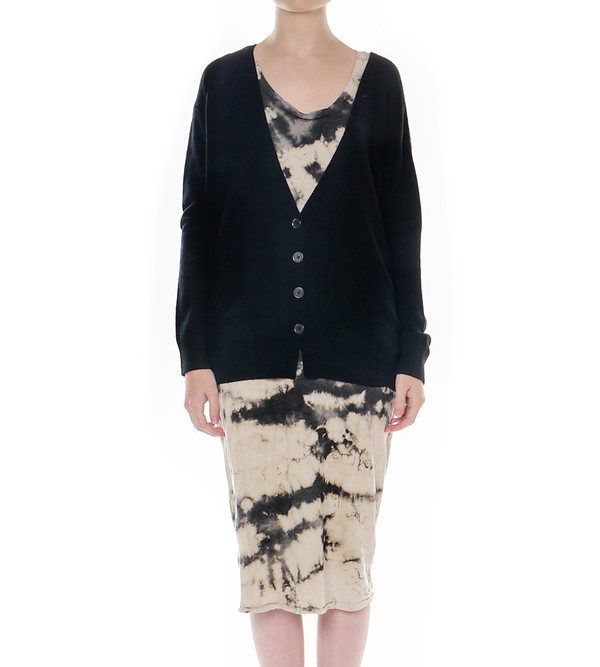 Raquel Allegra Shredded Back Cardigan