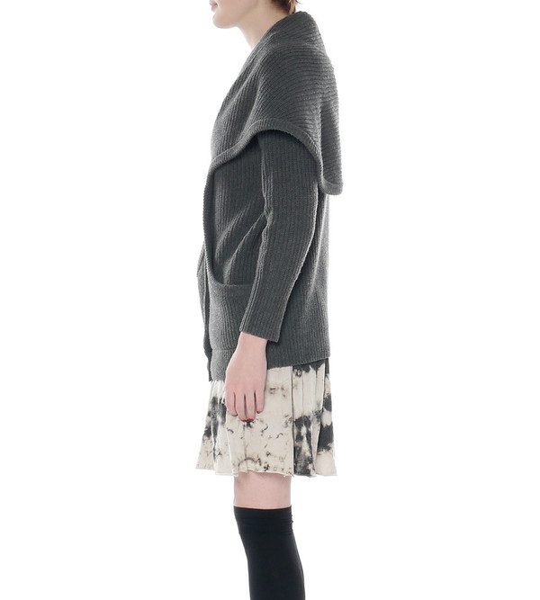 "Theyskens Theory ""Kailas B Yara"" Grey Knit Cardigan"