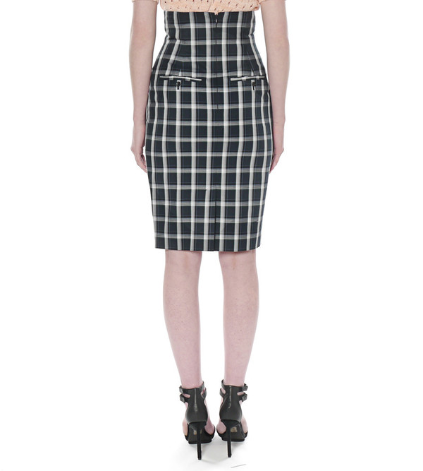G.V.G.V. Tartan Check Fitted Skirt