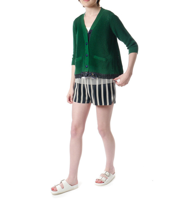 Sacai Luck Green Knit Cardigan