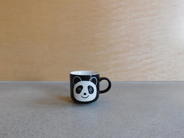 Kotobuki Set of 4 Jet Black Panda Mugs