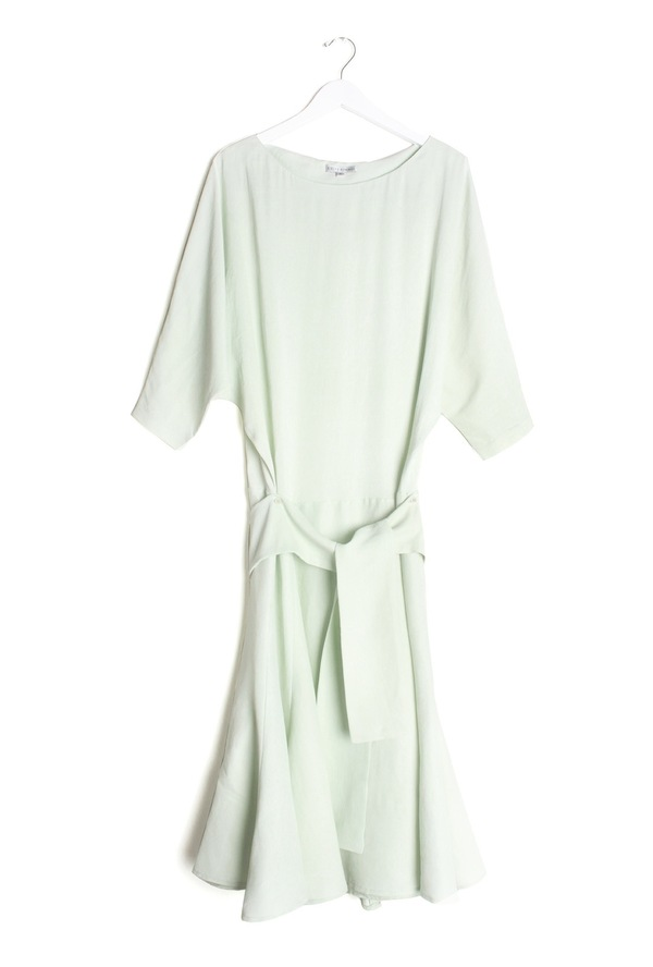 Kieley Kimmel Robe Dress | phantom green