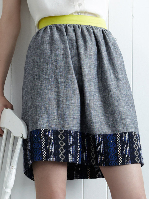 Eve Gravel Flying Fish Skirt