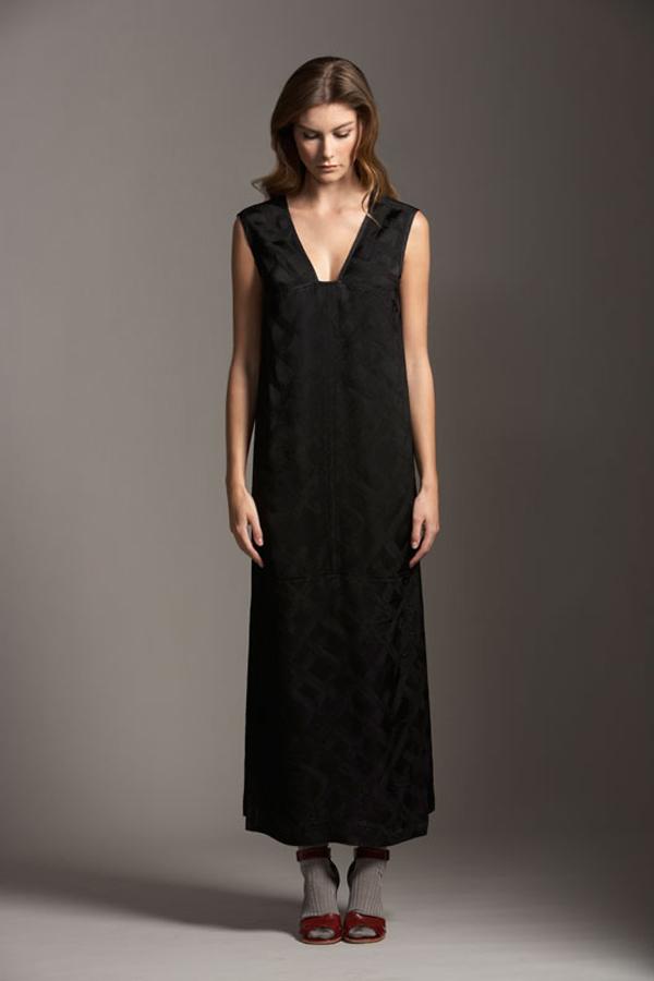 Comrags Cross Jacquard Longest Yard Dress
