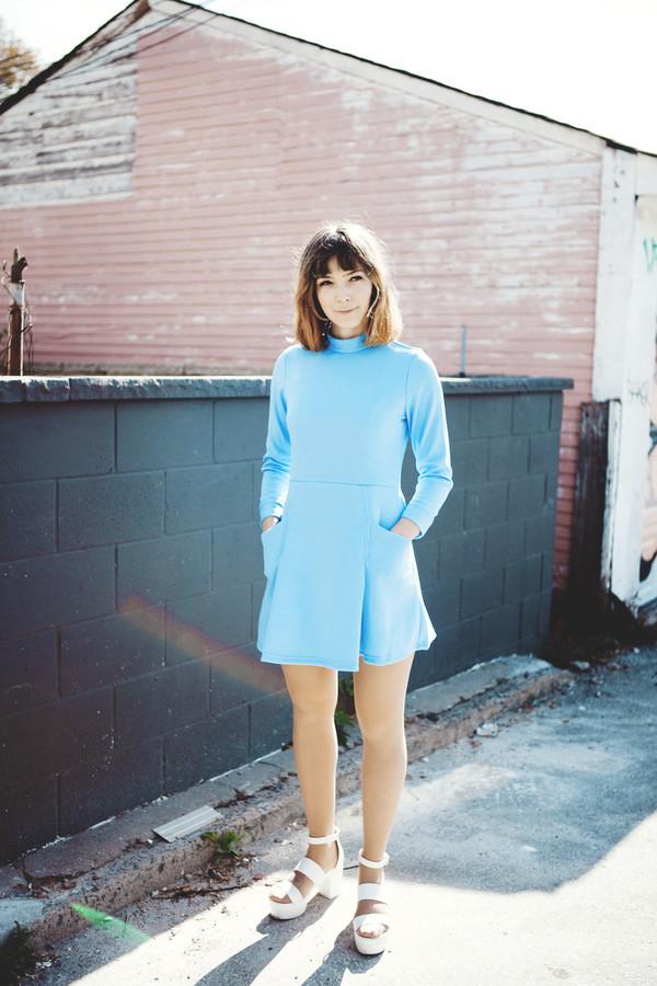 Samantha Pleet Booster Dress | Sky