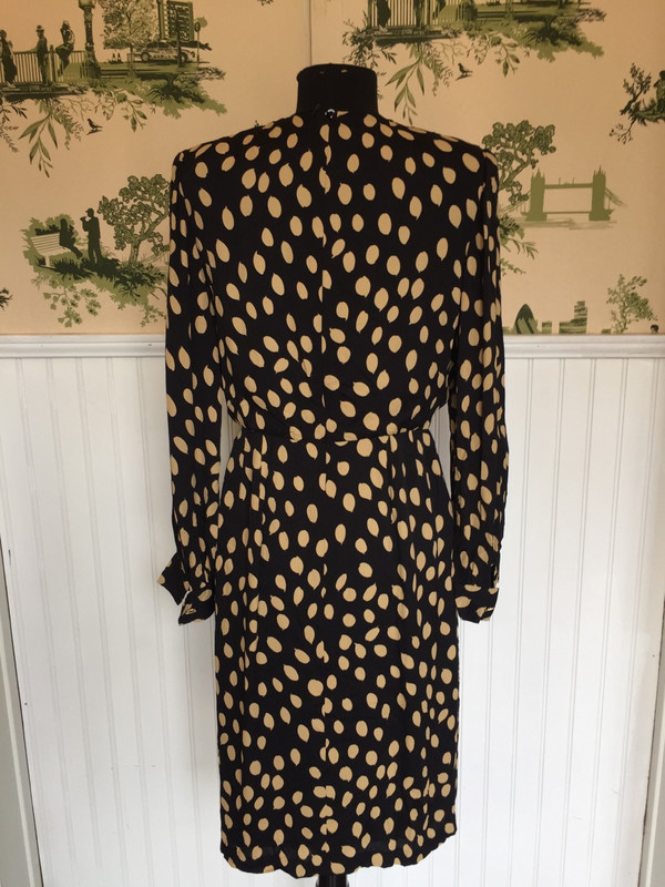 80's Nina Ricci Boutique for Japan abstract print dress size small medium
