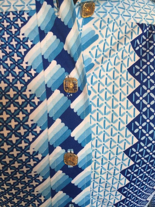 Japanese 70's graphic print designer dress size medium