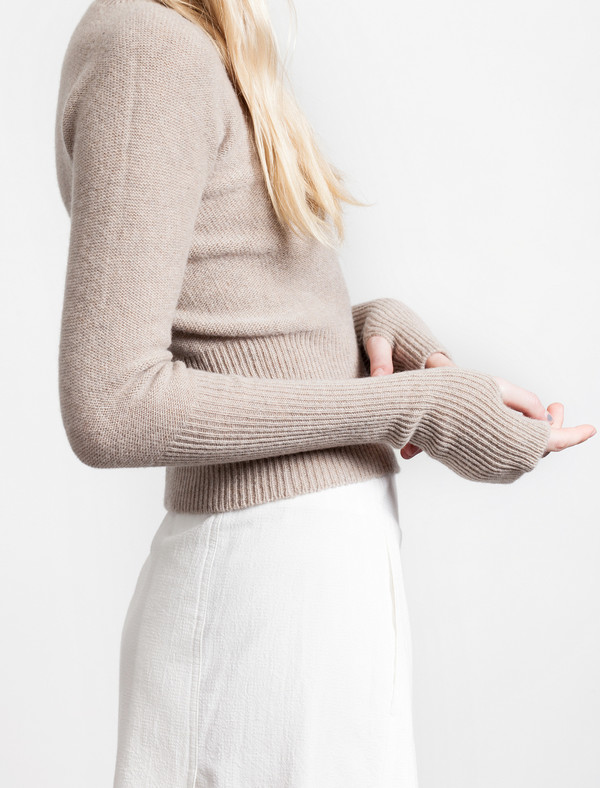 Lemaire Short Sweater Oatmeal