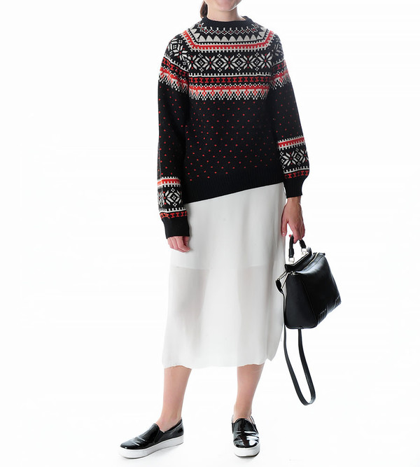 G.V.G.V. Nordic Asymmetric Sweater