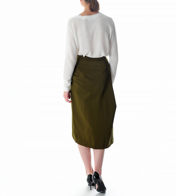 G.V.G.V. Poly Cady Draped Skirt