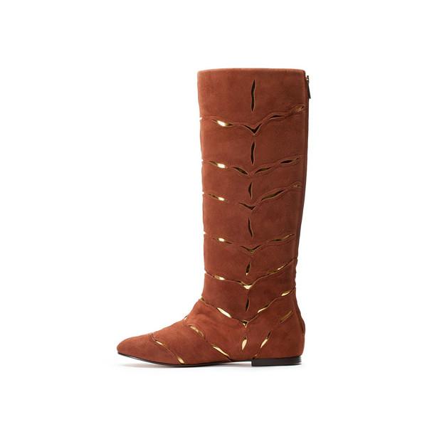 Bavaud Design Hiboka Over The Knee Laser Cut Boot