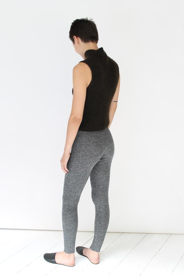 Micaela Greg Ribbed slim sweats | speckle grey