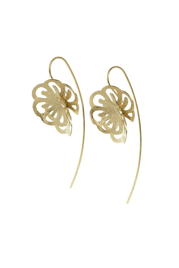 Touch of Silver Dahlia Earrings