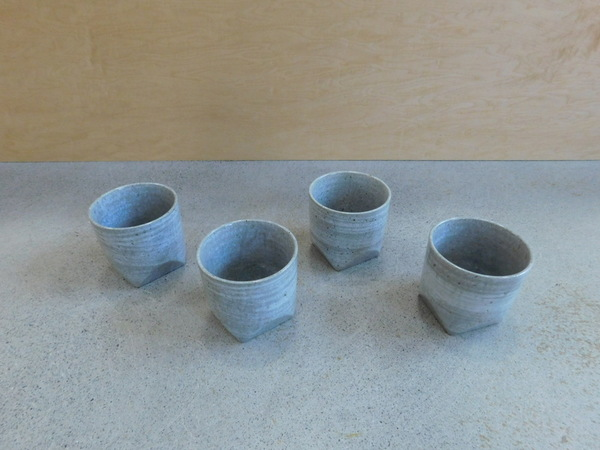 Kotobuki Set of 4 Faceted Tea Cups