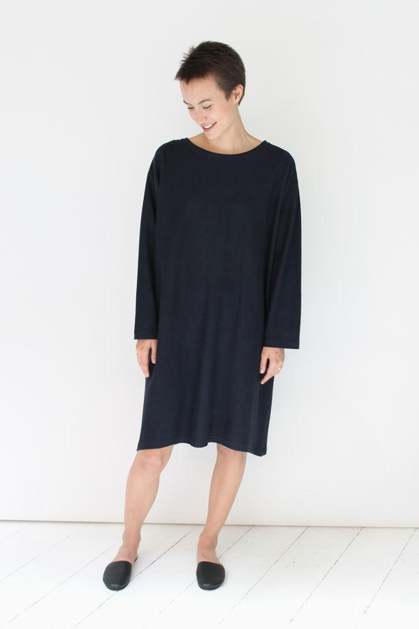 Revisited Sweatshirt Dress | navy