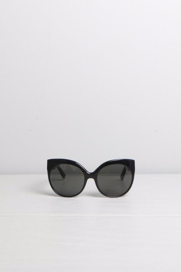 Linda Farrow Cat-Eye Cage Detail Sunglasses
