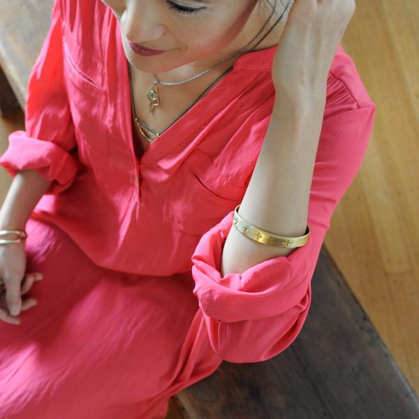 "Melissa De La Fuente ""X"" CUFF BRACELET"
