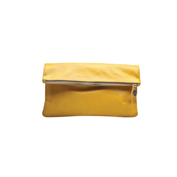 Clare Vivier Oversize Clutch - Yellow