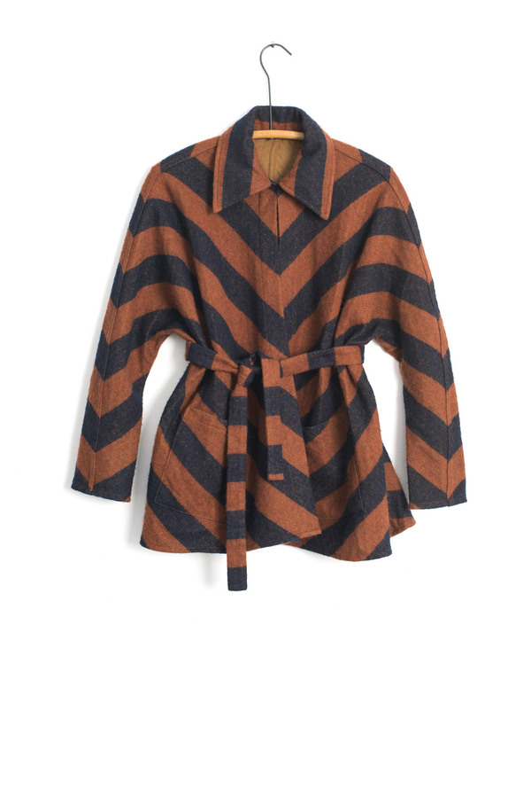Carleen Reversible Chevron Jacket