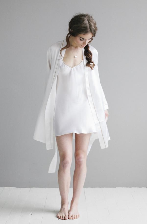 Salua Atelier Classic Silk Robe
