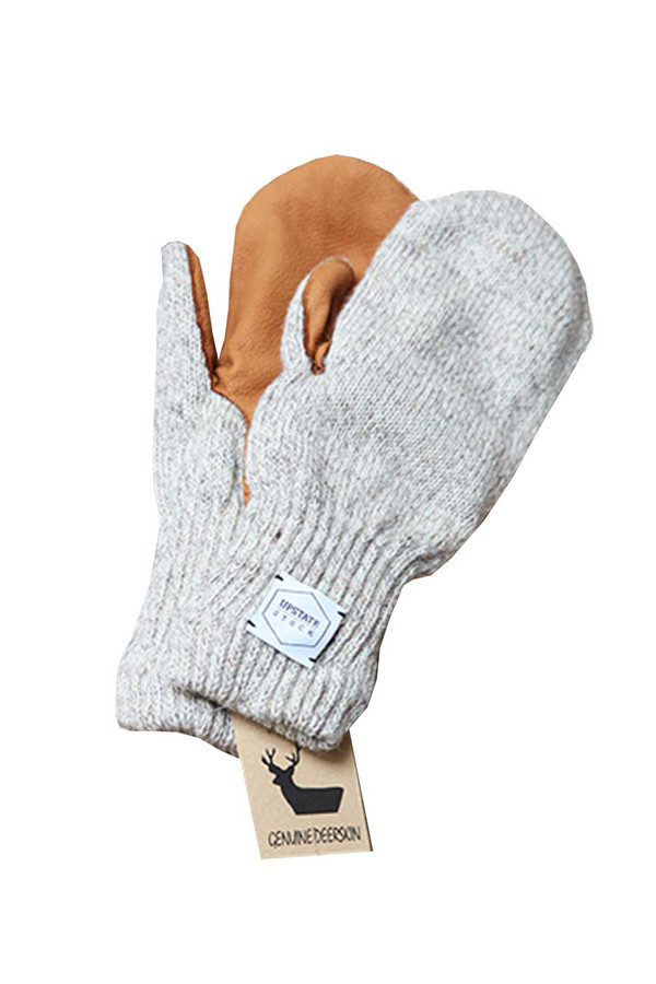 Men's Upstate Stock Deerskin Knit Mitt