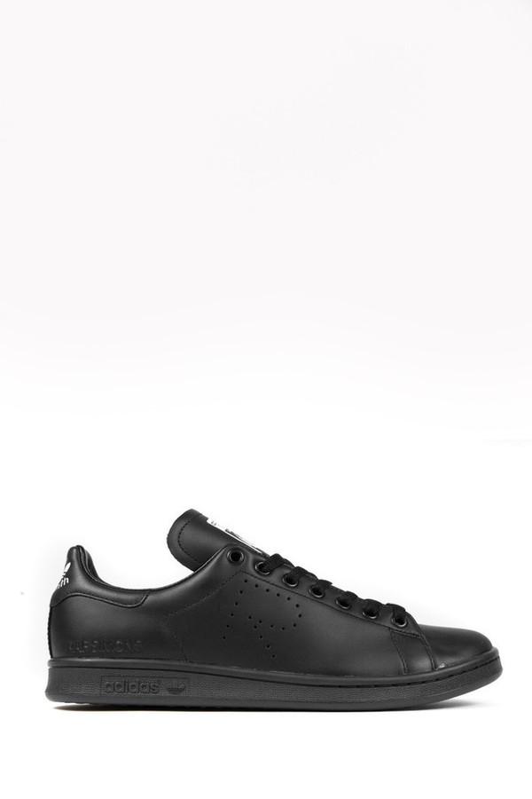Unisex Adidas x Raf Simons Black Stan Smith Sneaker