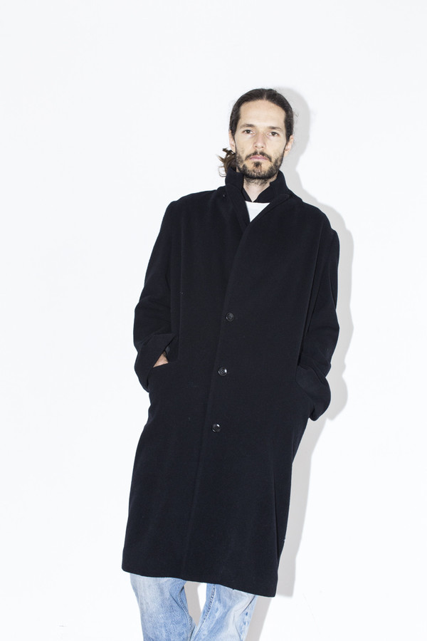 Men's Assembly New York Black Overcoat