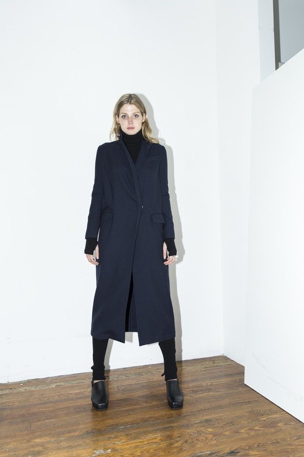 Assembly New York Navy Long Coat