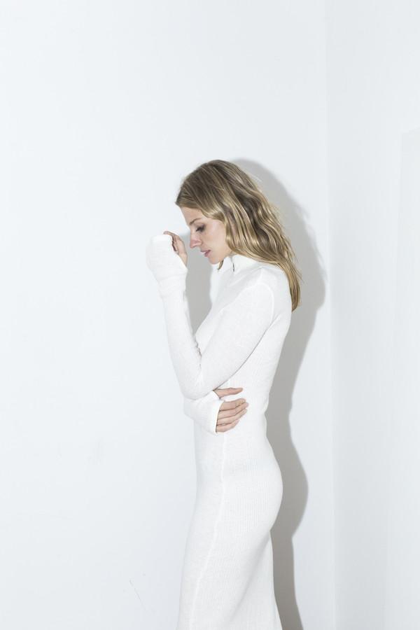 Assembly New York White Ribbed Maxi Dress