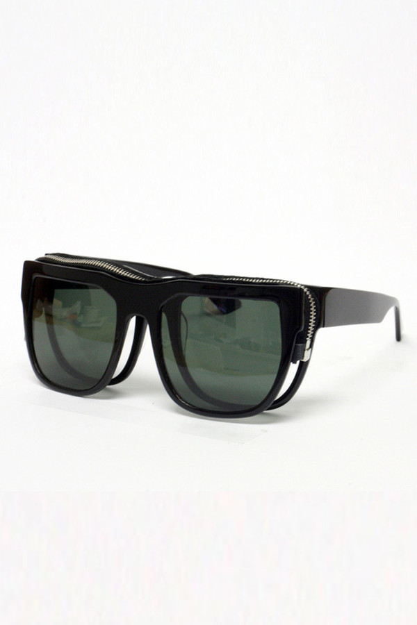 Men's Percy Lau Black Acetate Sunglasses