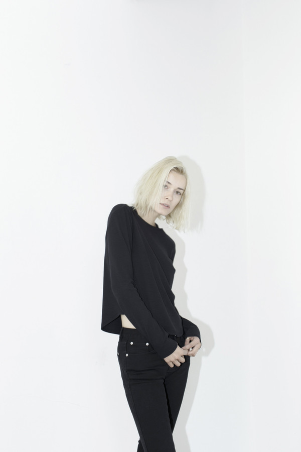 Black Long-sleeve Top