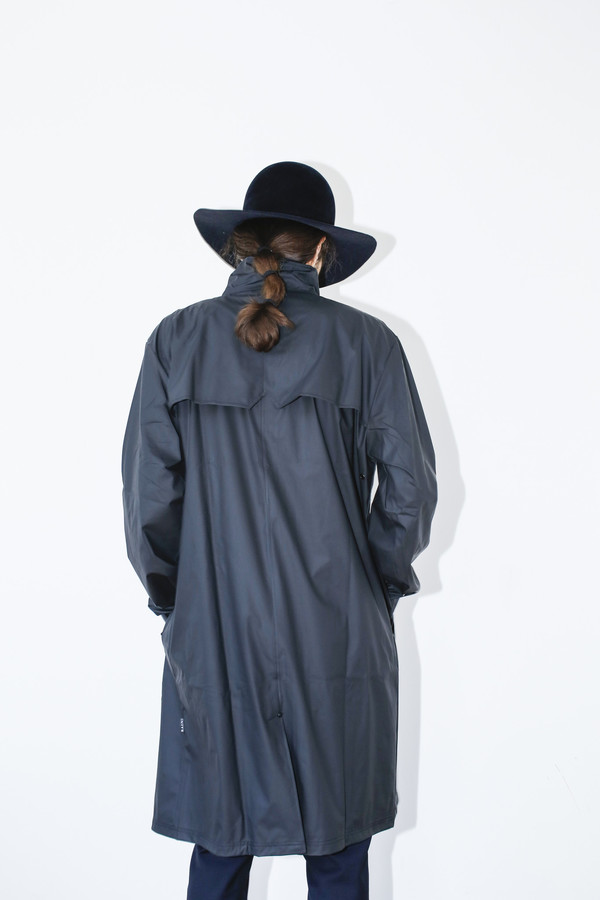 Men's Rains Black Mac Coat