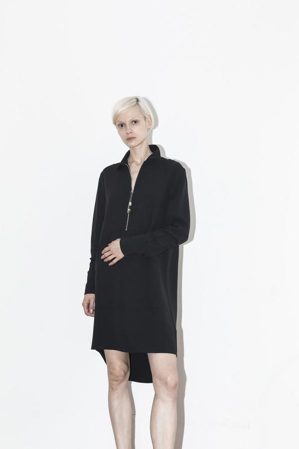 C.F. Goldman Black Pocket Dress