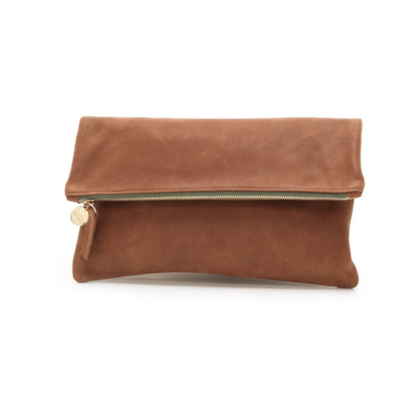 Clare Vivier Oversize Clutch - Brown