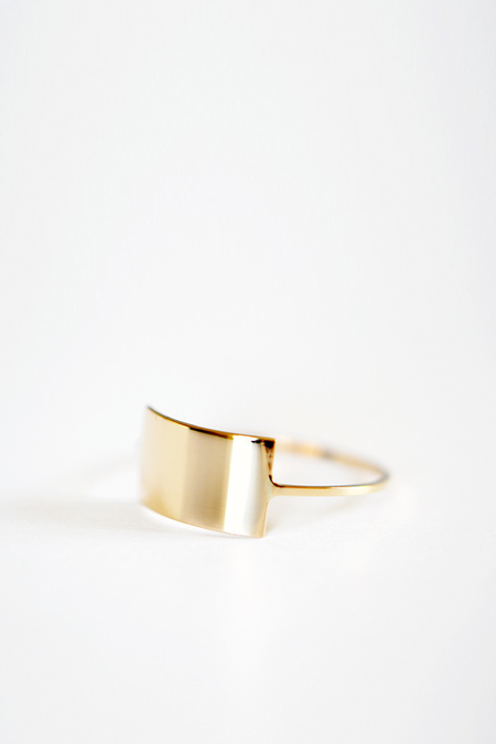 Kristen Elspeth Gold Shield Ring