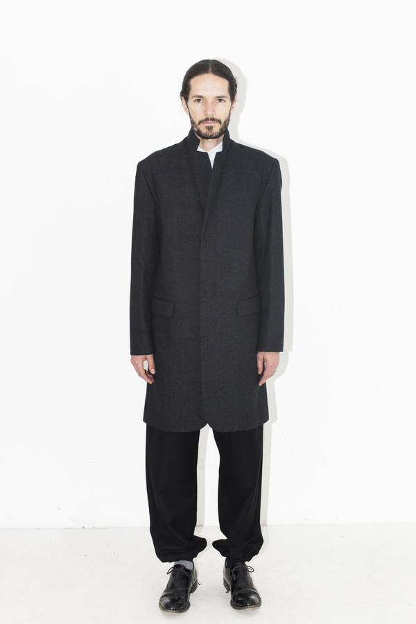 Men's Robert Geller Charcoal Dominik Coat