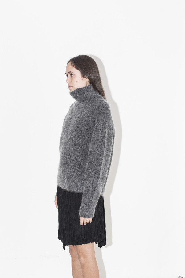Sayaka Davis High Neck Mohair Sweater
