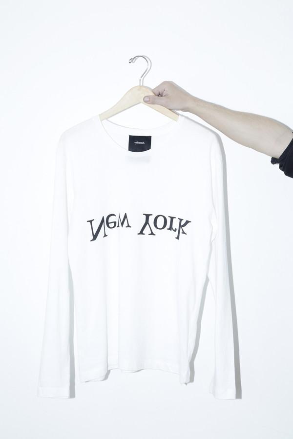 Unisex Assembly White Long-sleeved Logo T-shirt