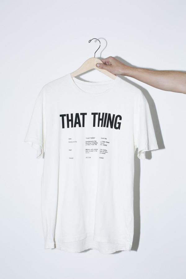Unisex Gentlemen's Bet White That Thing T-Shirt