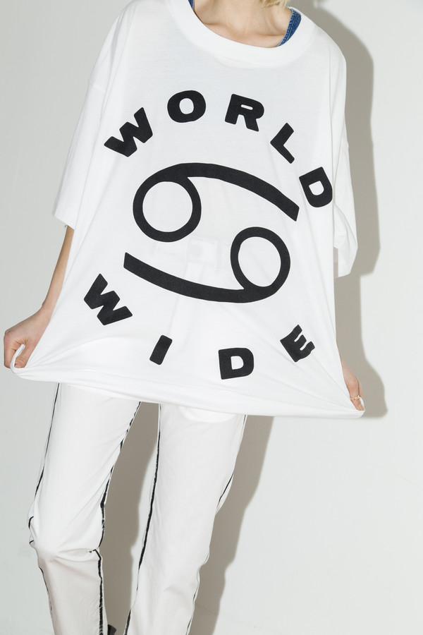 White World Wide Big Tee