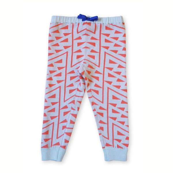 Micaela Greg Knitted Squiggle Pant - Tangerine