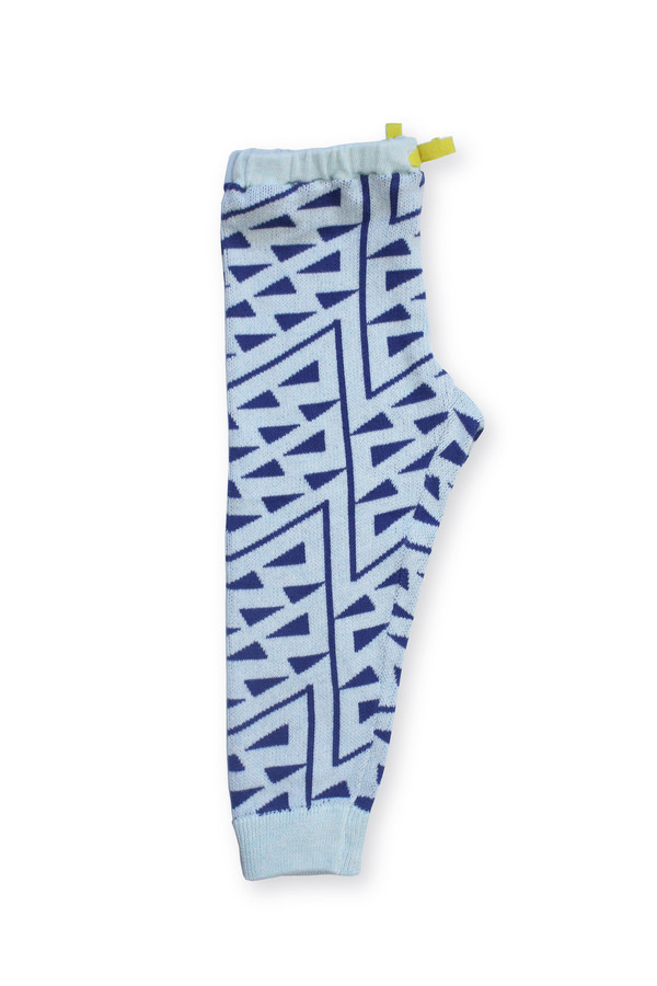 Micaela Greg Knitted Squiggle Pant - Ultramarine