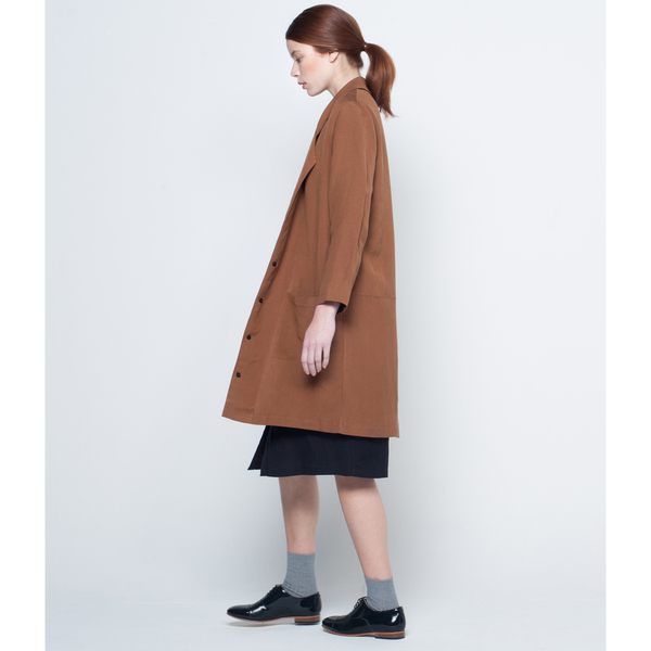 First Rite Mid Length Overcoat Amber