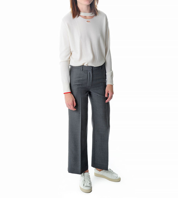Ports 1961 Grey Wide Leg Trousers