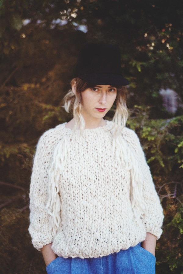 good night, day Kingston sweater | natural merino wool