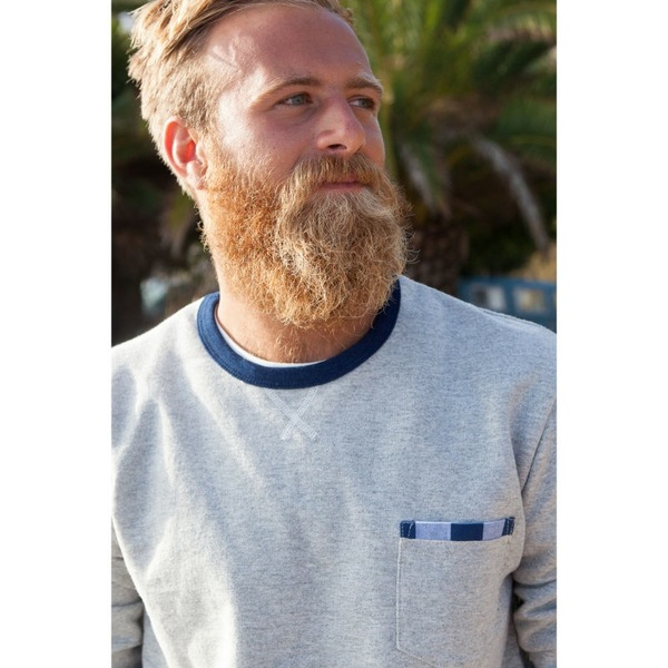 Men's Almond + Woolrich BUFFALO POCKET SWEATSHIRT | HEATHER