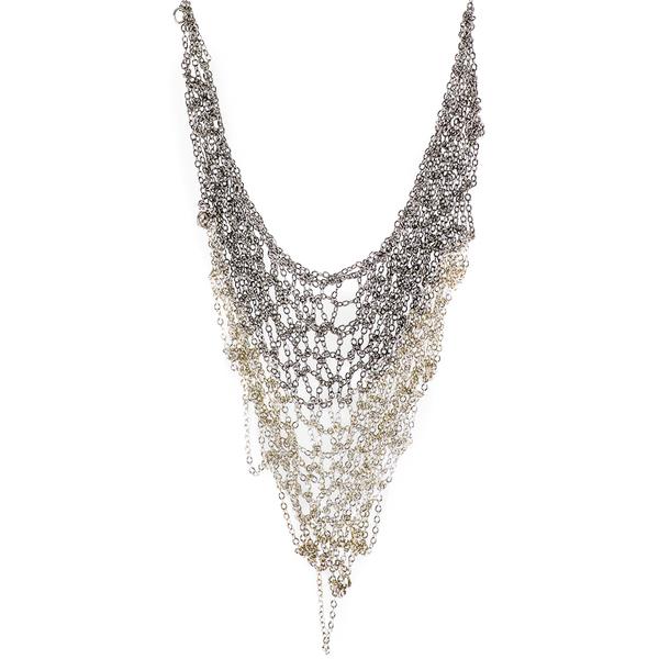 Ka'kia V-Mesh Necklace - White/Silver