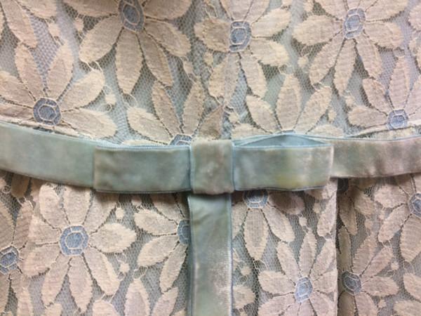 Steel Magnolias Vintage Blue Daisy Lace Dress