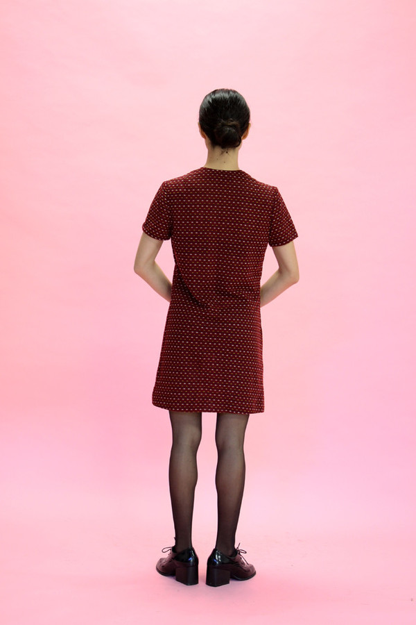 Steel Magnolias Vintage Red Knit Dress